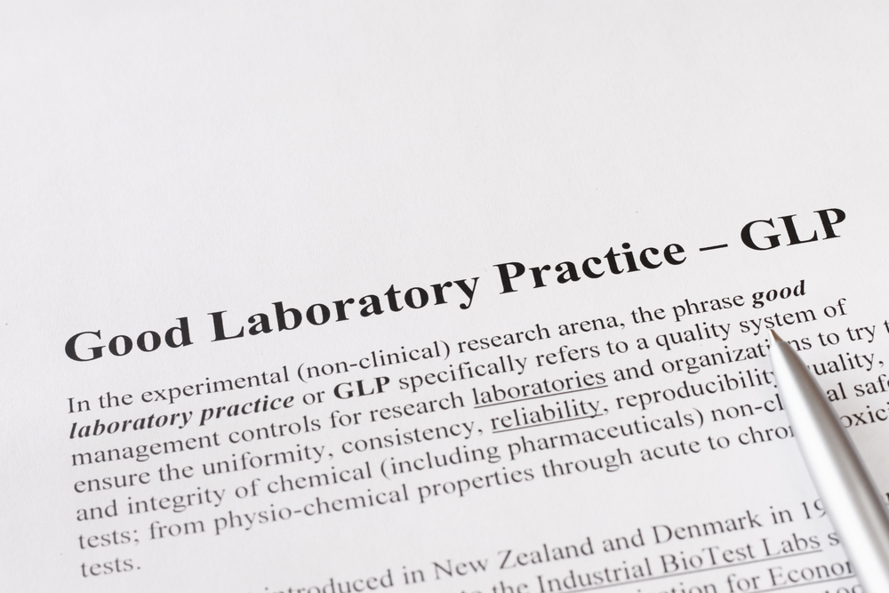 A piece of paper outlining good laboratory practice or GLP