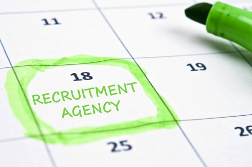 "Calendar on which a date is highlighted and marked ""Recruitment Agency"""