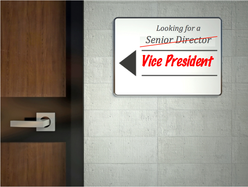 Looking for a Vice President of Regulatory Affairs Sign on Office Door